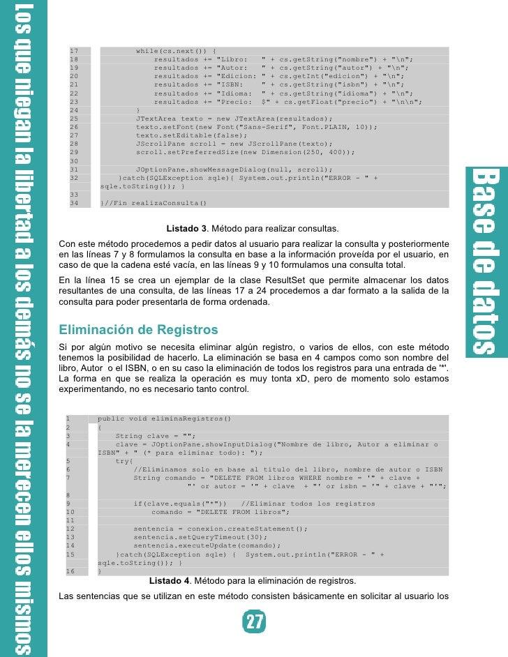 Compilación y resultado Una vez teniendo el código anterior procedemos a compilarlo normalmente con:   $ javac AdminApp.ja...
