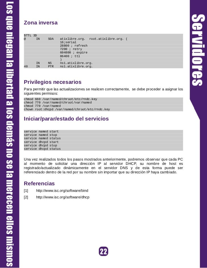 En caso que no estén instalados, proceda a instalarlos con el comando:# yum install tzdata.noarch ntp.i386Iniciar/Parar/Es...
