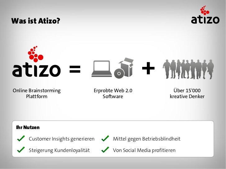 Wie funktioniert Atizo? Schritt 1    Schritt 2    Schritt 3   Schritt 4    Schritt 5   Frage       Ideen        Ideen     ...