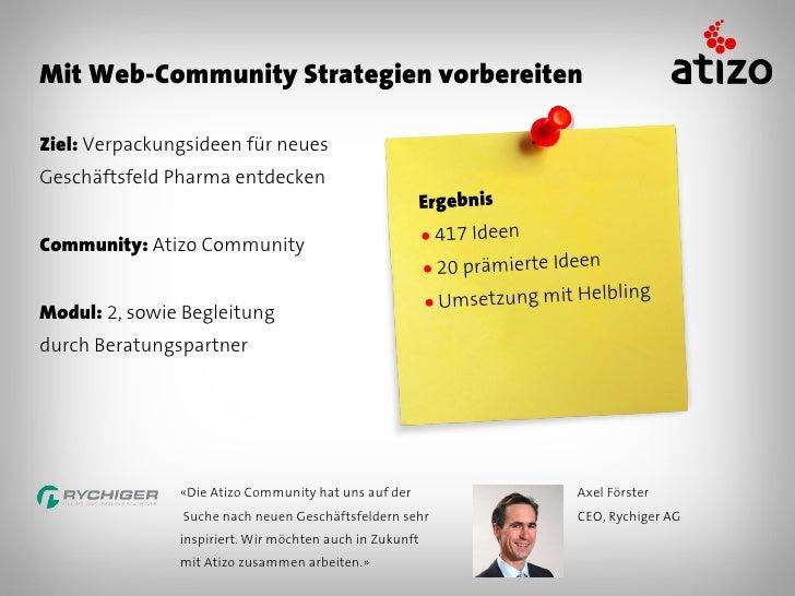 Mit Web-Community Prozesse optimierenZiel: Aufdecken von                                               ErgebnisSparpotenzi...