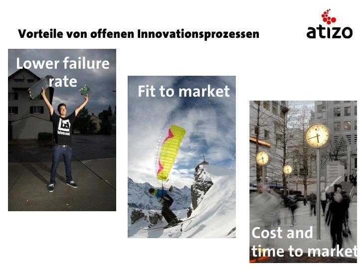 Vorteile von offenen InnovationsprozessenLower failure   rate                    Fit to market                            ...