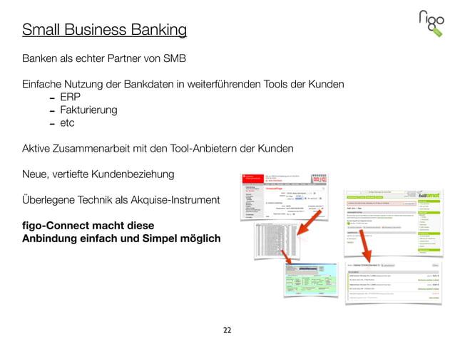 Small Business Banking ! Banken als echter Partner von SMB ! Einfache Nutzung der Bankdaten in weiterführenden Tools der K...