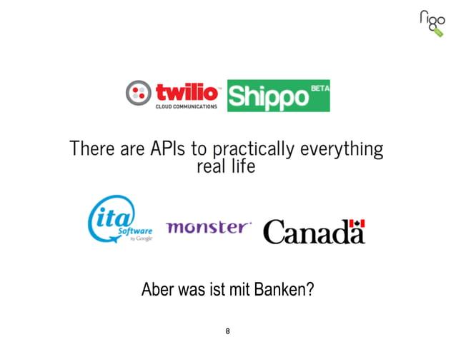 8 Aber was ist mit Banken?