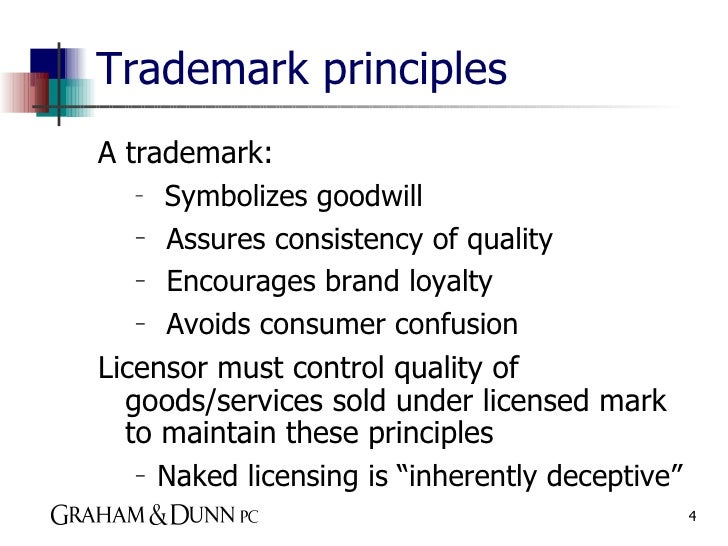 the definition of a trademark and goodwill Gone but not goodbye: residual goodwill in  residual goodwill is the legacy ability of a trademark to  without a consistent definition of residual goodwill,.