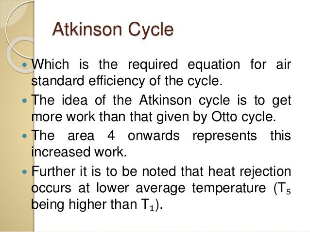 Atkinson Cycle, Ericsson Cycle And Stirling Cycle