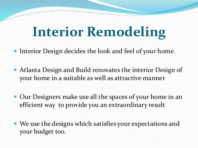 Atlanta Design And Build Best Interior Remodeling