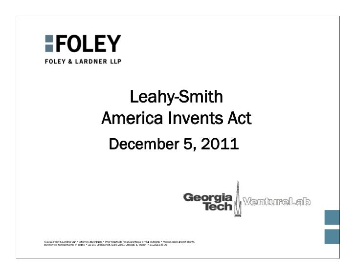 Leahy-Smith                                                 America Invents Act                                           ...