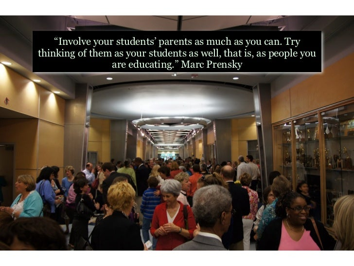 """""""We should not be blown away by our students; we should  be expecting even more from them."""" Marc Prensky"""
