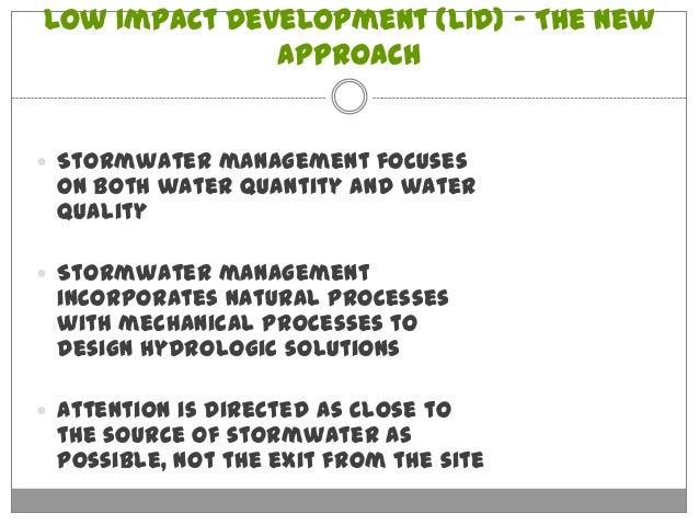 Low Impact Development Stormwater : Atlanta urban design and stormwater