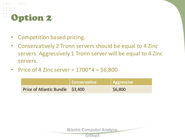 atlantic computer essay Mba, had joined atlantic computer just four months ago as the youngest product manager he would be responsible for developing the pricing strategy for the.