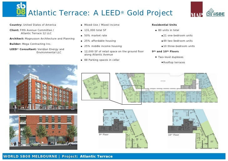 Atlantic Terrace: A LEED Gold Project                             ®     Country: United States of America                M...