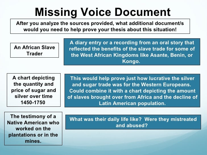 thesis of slave testimony Most spasms of cruelty in history we know about largely through the testimony of victims slave ships are, after all.
