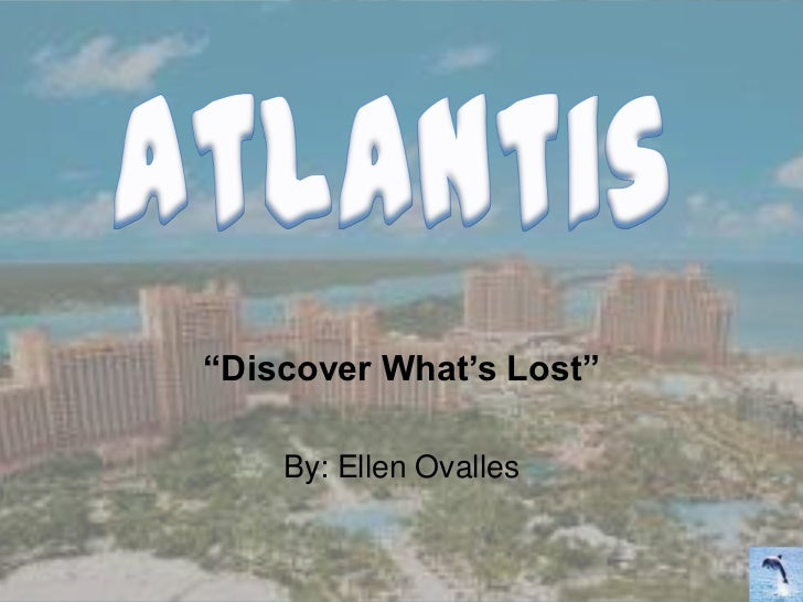 """""""Discover What's Lost""""    By: Ellen Ovalles"""
