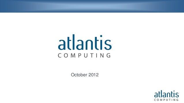 Atlantis overview v5 o ctober 2012