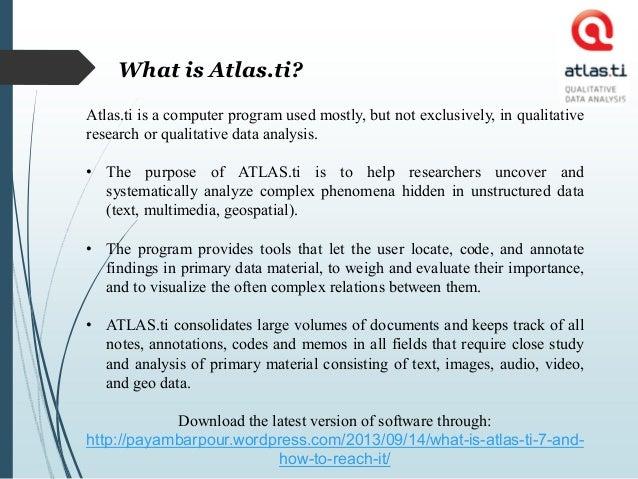 Atlas ti tutorial