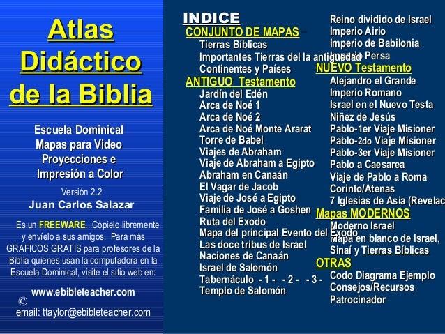 Versión 2.2 Juan Carlos Salazar AtlasAtlas DidácticoDidáctico de la Bibliade la Biblia Escuela DominicalEscuela Dominical ...