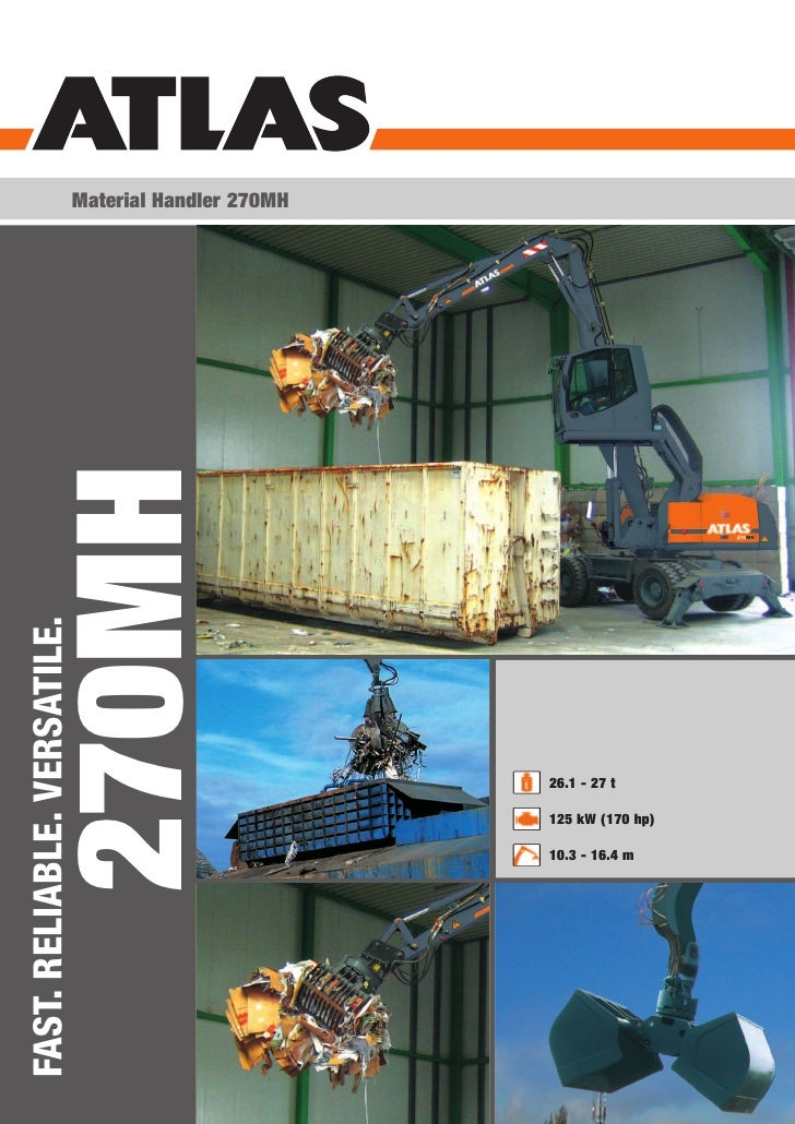 Material Handler 270MH       270MHFAST. RELIABLE. VERSATILE.                                                      26.1 - 2...