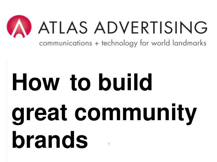 How to Build Great Community Brands<br />