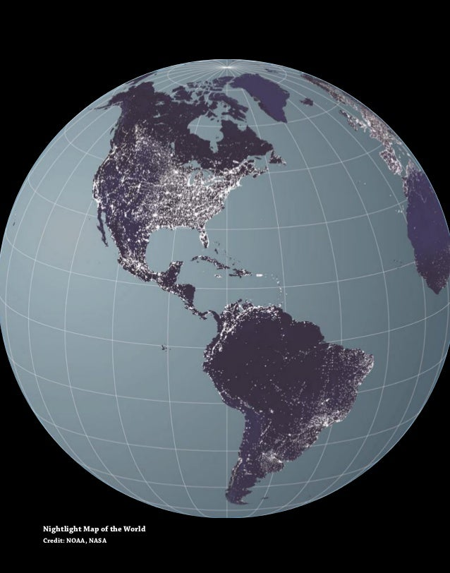 10Nightlight Map of the WorldCredit: NOAA, NASA