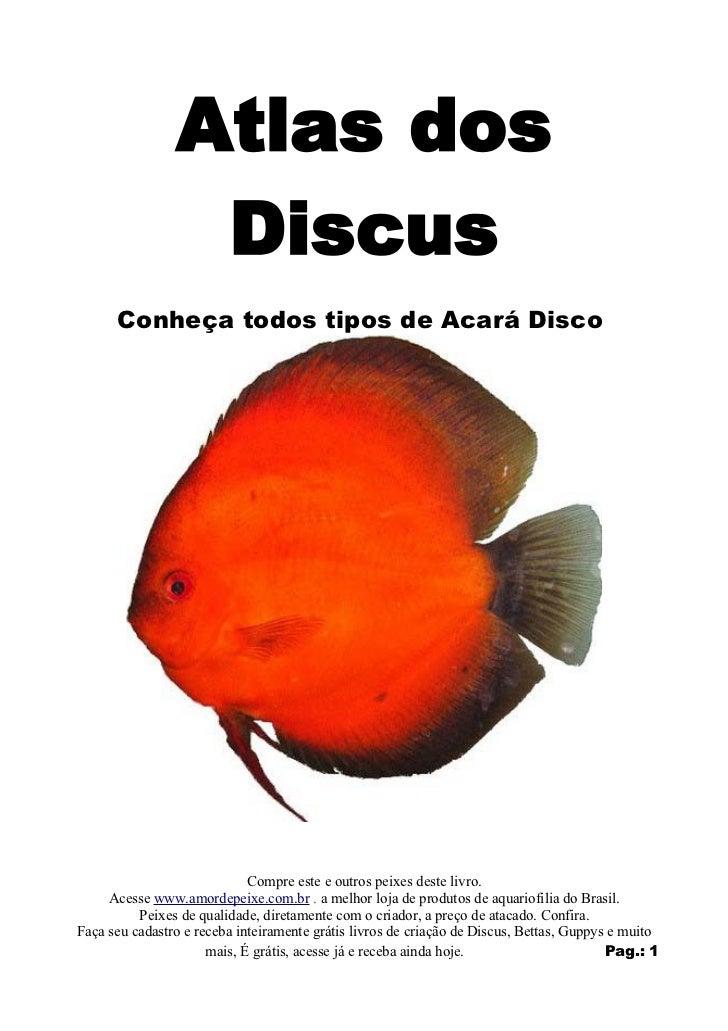 Atlas dos                 Discus      Conheça todos tipos de Acará Disco                             Compre este e outros ...