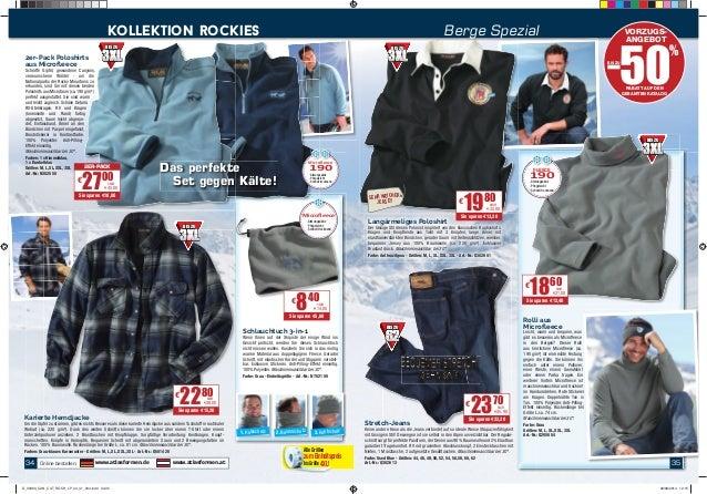 35  kollektion rockies Berge Spezial VORZUGS-ANGEBOT  FLEECE 190  • Atmungsaktiv  • Pfl egeleicht  • Schnell trocknend  € ...