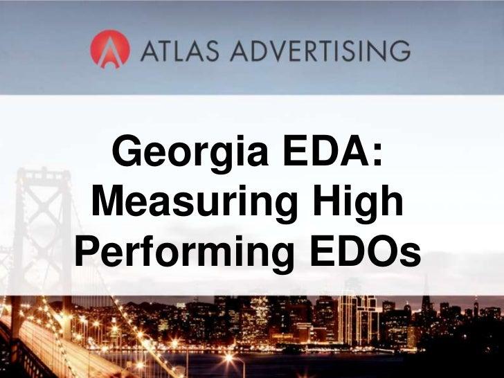 Georgia EDA: Measuring HighPerforming EDOs       1