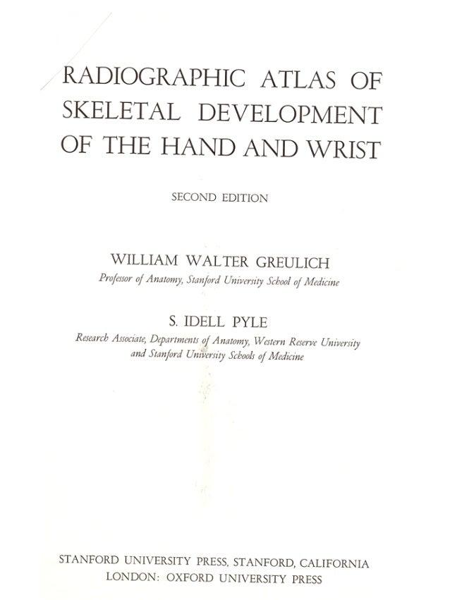 atlas de greulich et pyle pdf