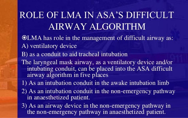 laryngeal mask airway  igel  an introduction