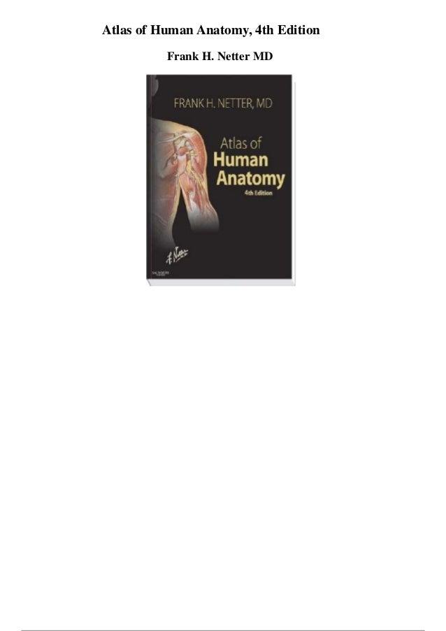 Atlas of human anatomy 4th edition pdf