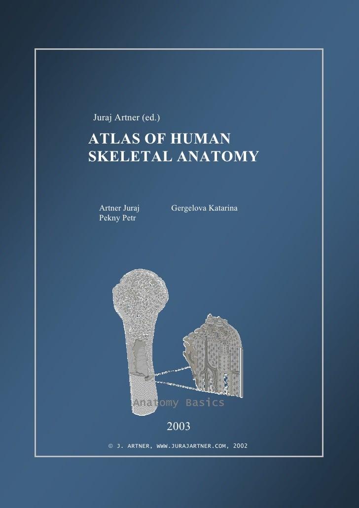 ATLAS OF HUMAN SKELETAL ANATOMY          Juraj Artner (ed.)        ATLAS OF HUMAN        SKELETAL ANATOMY           Artner...