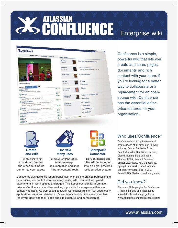Enterprise wiki                                                                                  Confluence is a simple,   ...