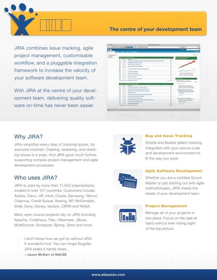 www.atlassian.com/jira     The Professional Issue Tracker                                                      Who uses JI...