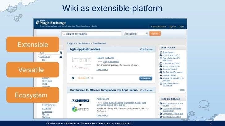 Confluence as platform for technical documentation