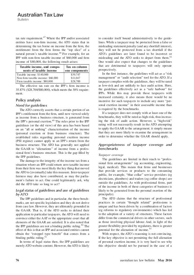 australian taxation law Into account changes in the income tax laws and tax treaty policies of the two countries it provides limits on the tax at source with respect to taxes on investment income and provides rules for the taxation  in australia the australian income tax, including the additional tax upon the.