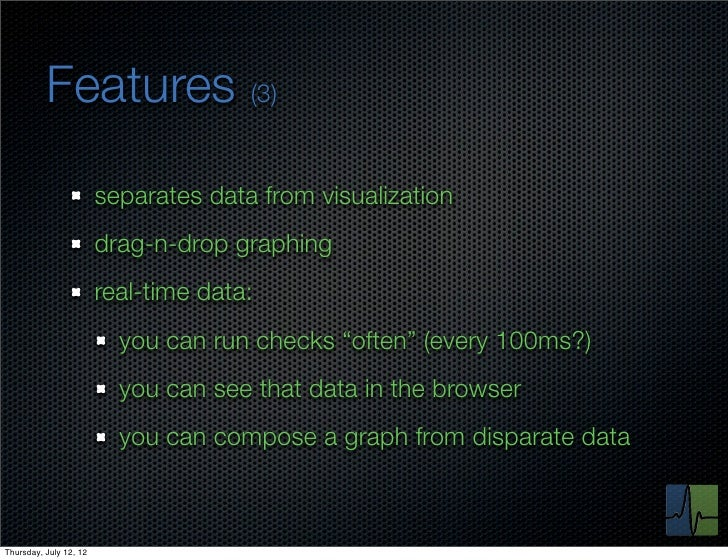Features (3)                        separates data from visualization                        drag-n-drop graphing         ...