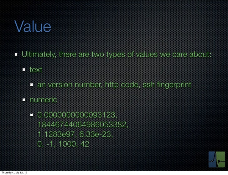 Value                Ultimately, there are two types of values we care about:                        text                 ...