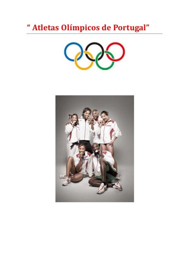 """ Atletas Olímpicos de Portugal"""