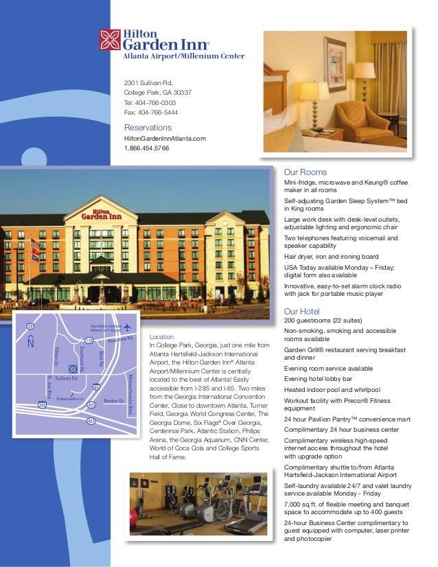 Hilton garden inn atlanta airport millenium center for Hilton garden inn atlanta airport millenium center