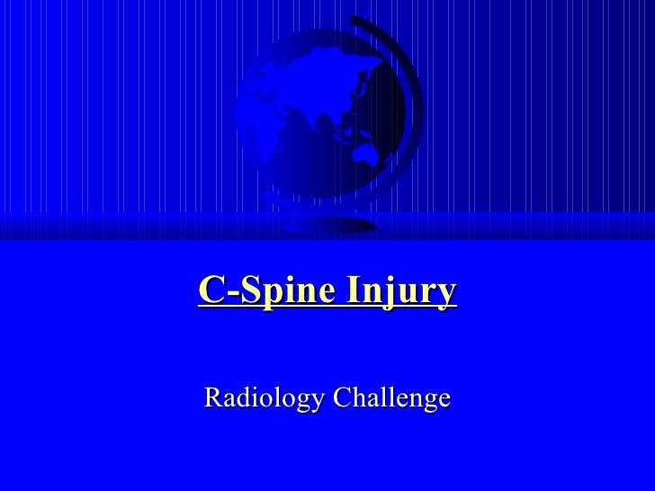 C-Spine Injury Radiology Challenge