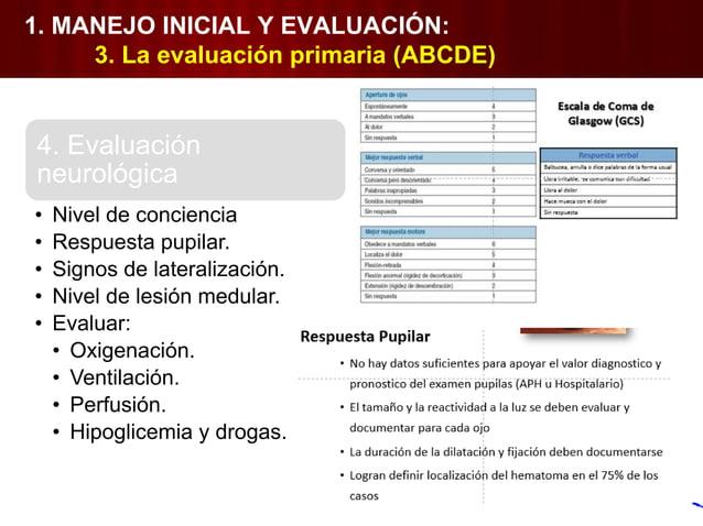 1. MANEJO INICIAL Y EVALUACIÓN: 6. Evaluación secundaria