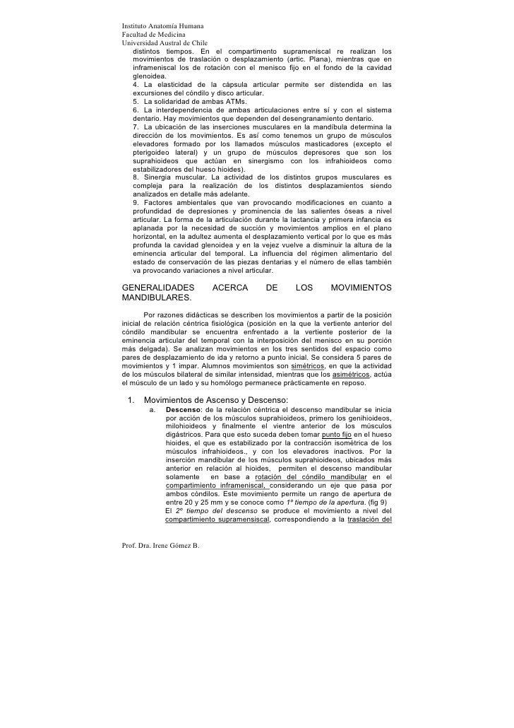 Instituto Anatomía HumanaFacultad de MedicinaUniversidad Austral de Chile    distintos tiempos. En el compartimento supram...