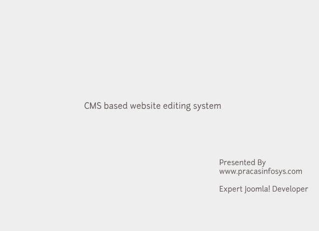 CMS Website Editing Guide