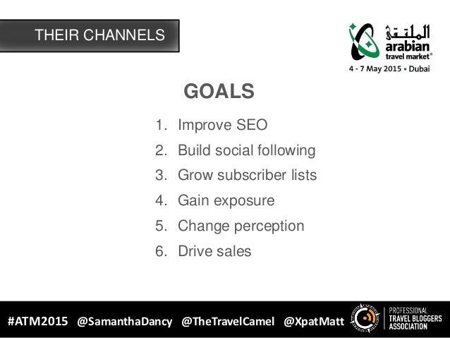 GOALS 1. Improve SEO 2. Build social following 3. Grow subscriber lists 4. Gain exposure 5. Change perception 6. Drive sal...