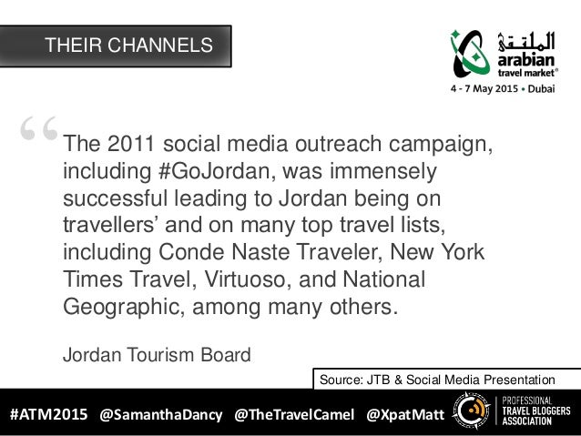 """""""The 2011 social media outreach campaign, including #GoJordan, was immensely successful leading to Jordan being on travell..."""
