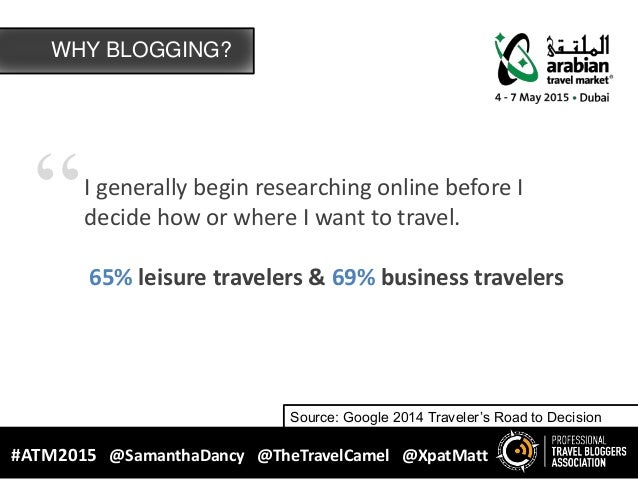 """""""I generally begin researching online before I decide how or where I want to travel. 65% leisure travelers & 69% business ..."""