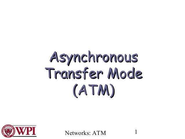 AsynchronousTransfer Mode    (ATM)  Networks: ATM   1