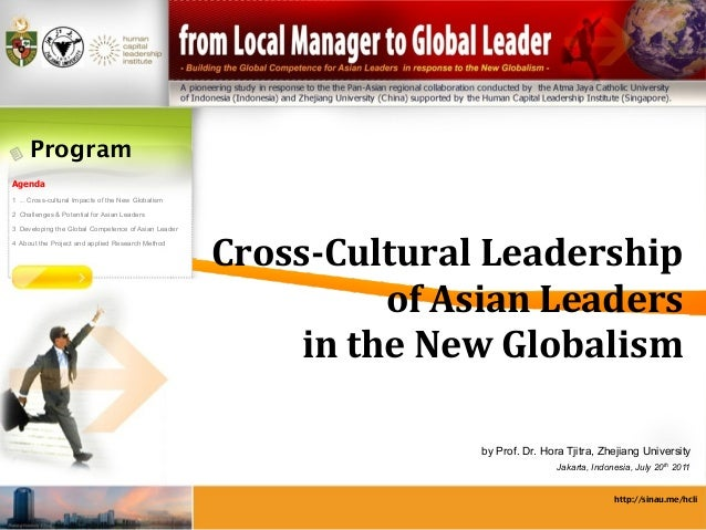 Program Agenda 1 ... Cross-cultural Impacts of the New Globalism 2 Challenges & Potential for Asian Leaders 3 Developing t...