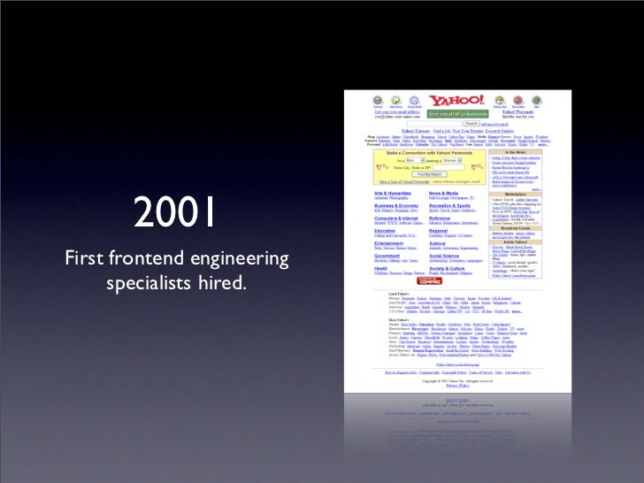 2001 Intersection of design and  development still vague.