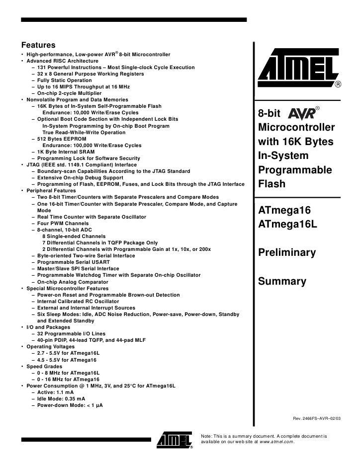 Atmega32 Datasheet Pdf