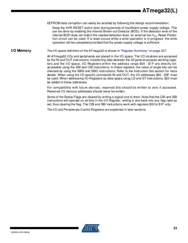 ATMega32 datasheet